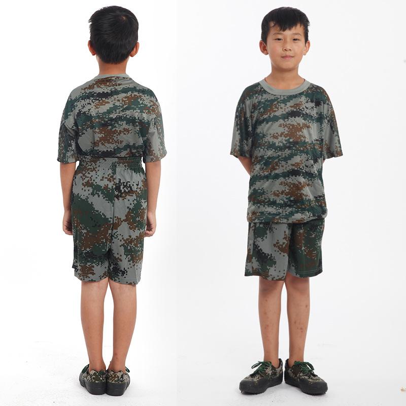 Quần áo huấn luyện quân sự cho trẻ em .