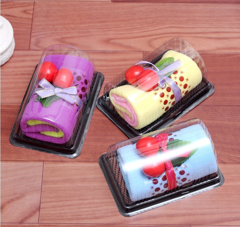 ZHONGTU Khăn bánh kem Bánh khăn nhỏ Thụy Sĩ cuộn quà cưới sáng tạo quà tặng sinh nhật đám cưới đặc b