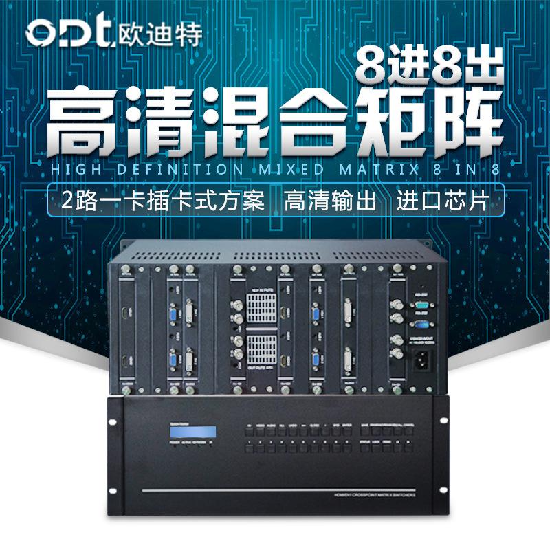 Bộ chuyển đổi giao diện HDMI / VGA / DVI hỗn hợp HD 8 trong 8 ra