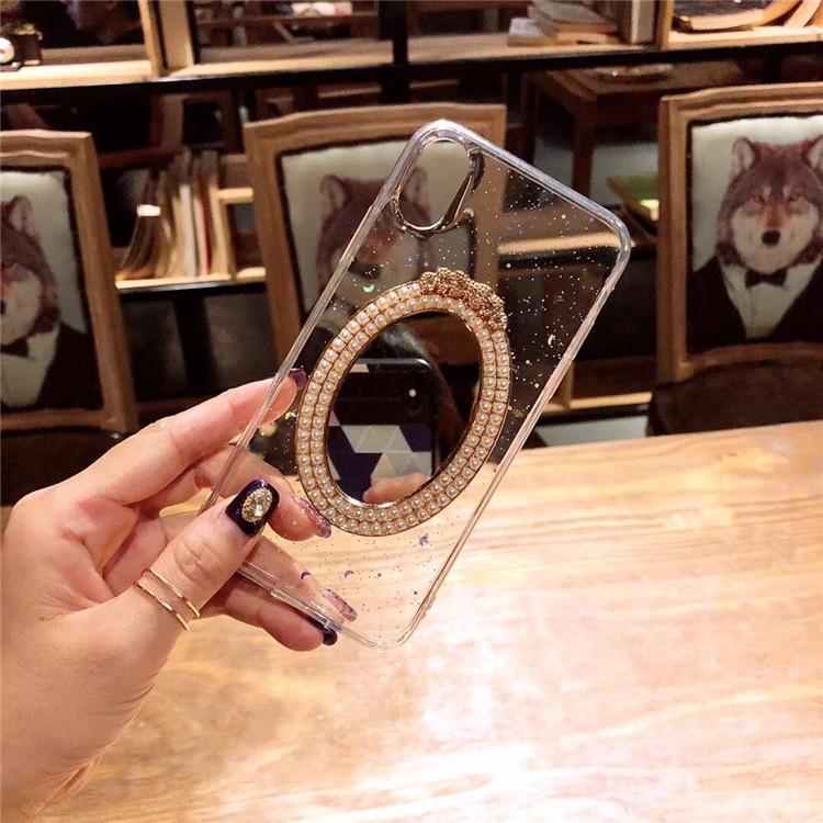 Ốp lưng bảo vệ cho điện thoại Iphone thiết kế vỏ gương phía sau .