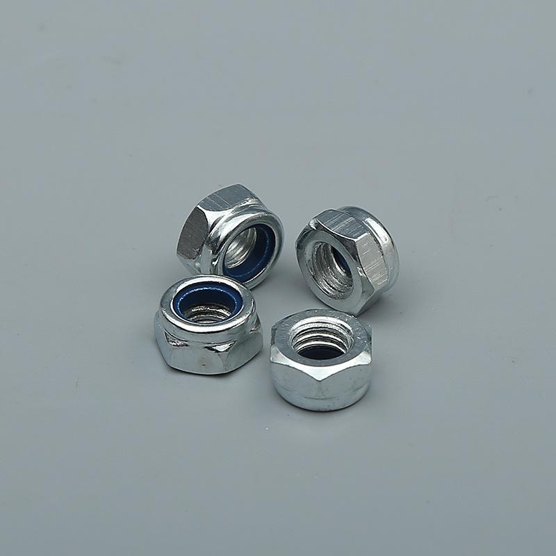 MINJIN Tán Nhà máy sản xuất đai ốc tự khóa chống lỏng Thép carbon với đai ốc tạp dề khóa đai ốc lục