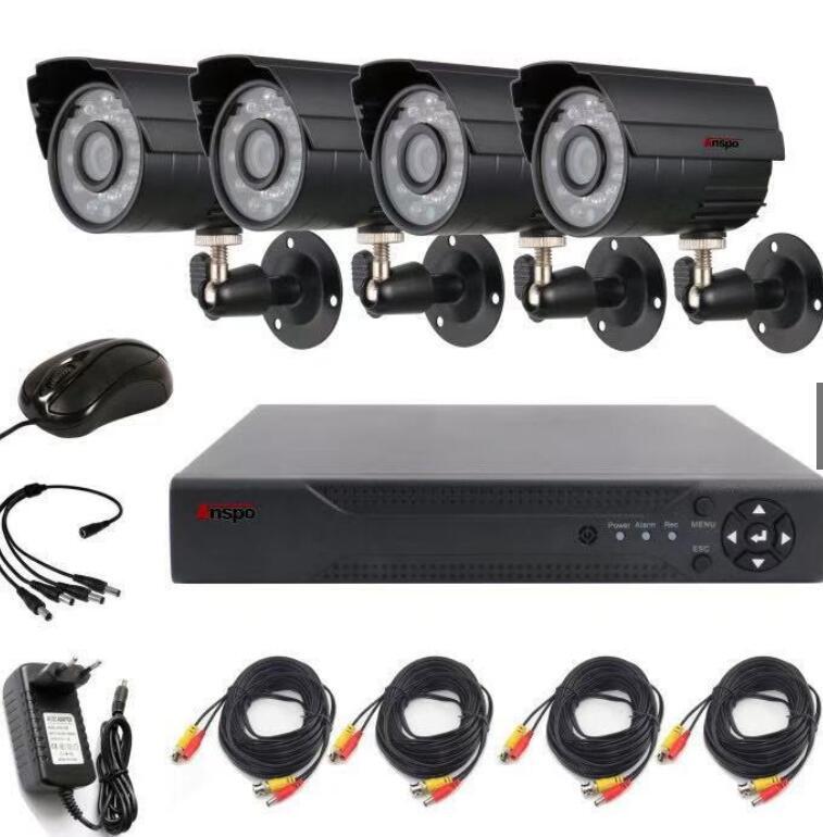 Phụ kiện giám sát Trọn Bộ 4 Mắt Camera Giám Sát AHD Full HD 1080N Dung Lượng Ổ Đĩa Cứng 500G Và Đầy