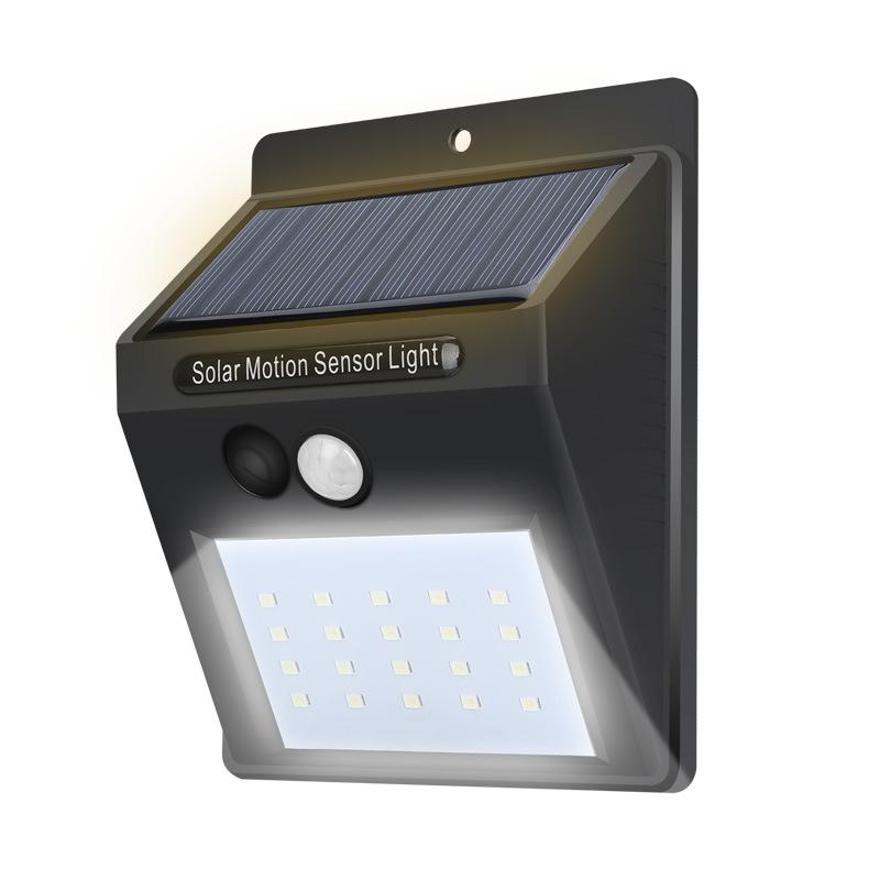 SHENGFEIHUO Đèn LED chiếu sáng cửa ra vào ngoài trời dùng năng lượng mặt trời