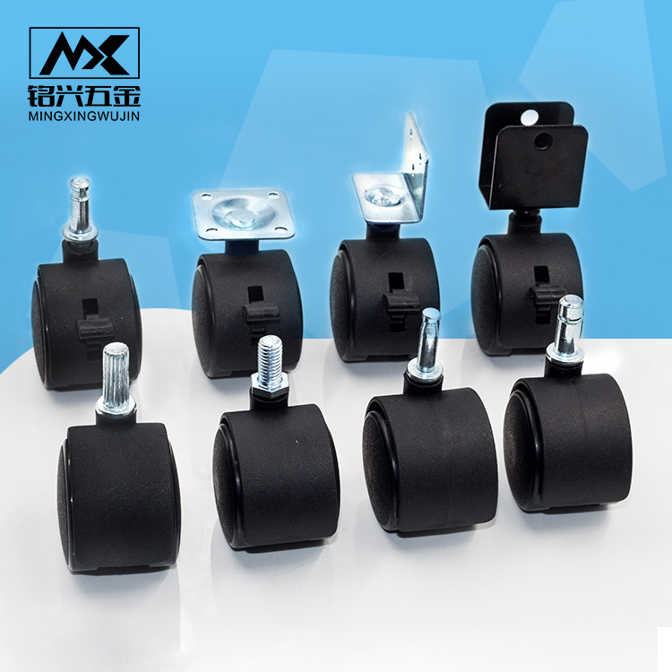 bánh xe đẩy(Bánh xe xoay) Nhà máy đúc trực tiếp đồ nội thất phổ quát bánh xe vít nylon bánh xe pit t