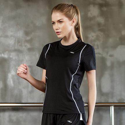 Thị trường bảo hộ lao động  Hosa Áo thun thể thao tay ngắn Hosa Hosa dành cho nữ 2018 mới.