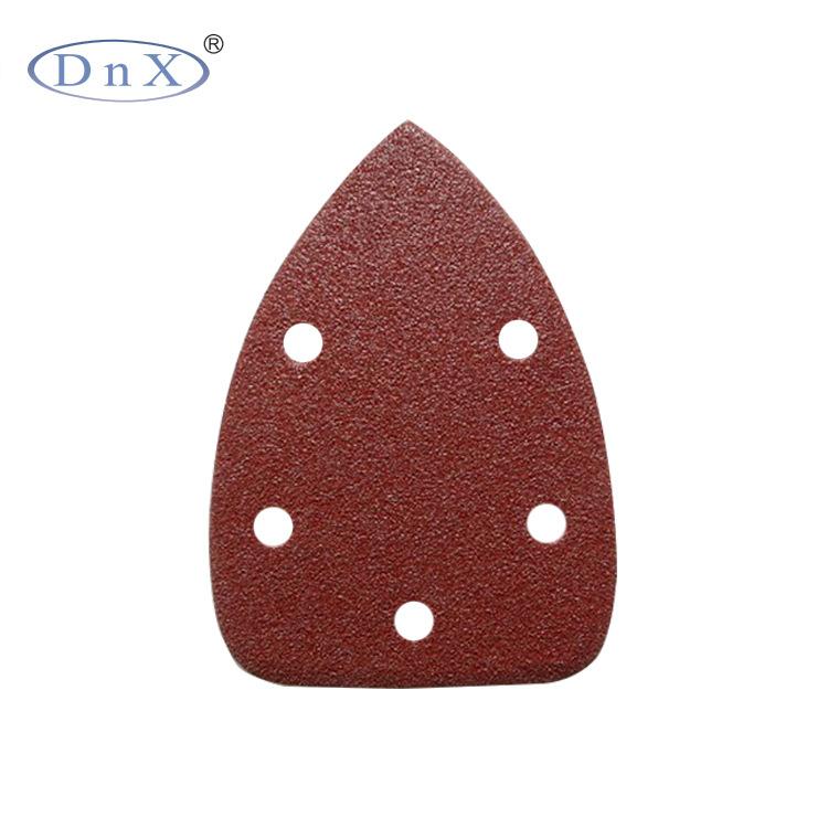 Công cụ mài Phụ kiện kho báu phổ quát giấy nhám tam giác cát đỏ đánh bóng tam giác cát mài mòn tấm 5
