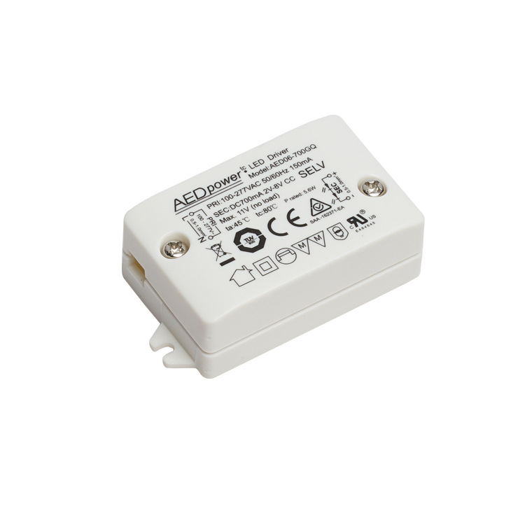 AEDpowewr Bộ nguồn không đổi Tiếp thị trực tiếp chứng nhận UL ổ đĩa siêu mỏng 6W không có đèn flash