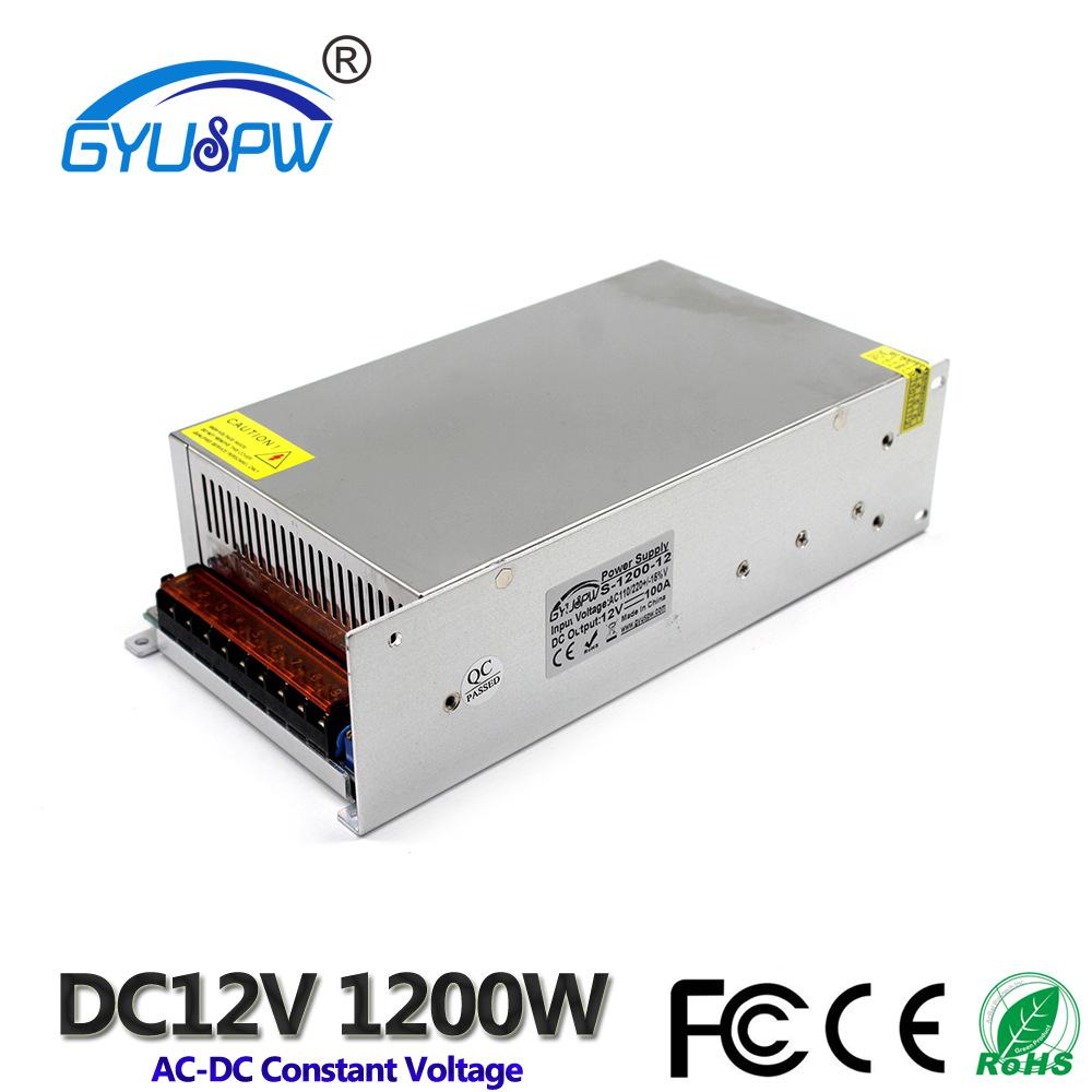 GYUSPW Bộ nguồn cho đèn LED Nguồn cung cấp điện LED121200W400W Trình điều khiển đèn 12V200W Nguồn cu