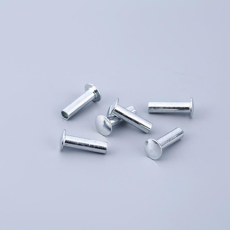 FENGRUN Đinh Nhà máy trực tiếp đầu tròn mạ kẽm đinh tán bán hình ống M5 * 18 hợp kim nhôm không tiêu