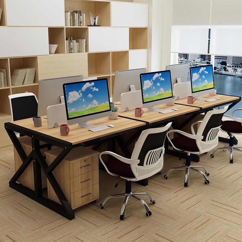 SHUANGJUN Thị trường nội thất văn phòng Bàn ghế nhân viên văn phòng bàn ghế nhân viên kết hợp bàn nh
