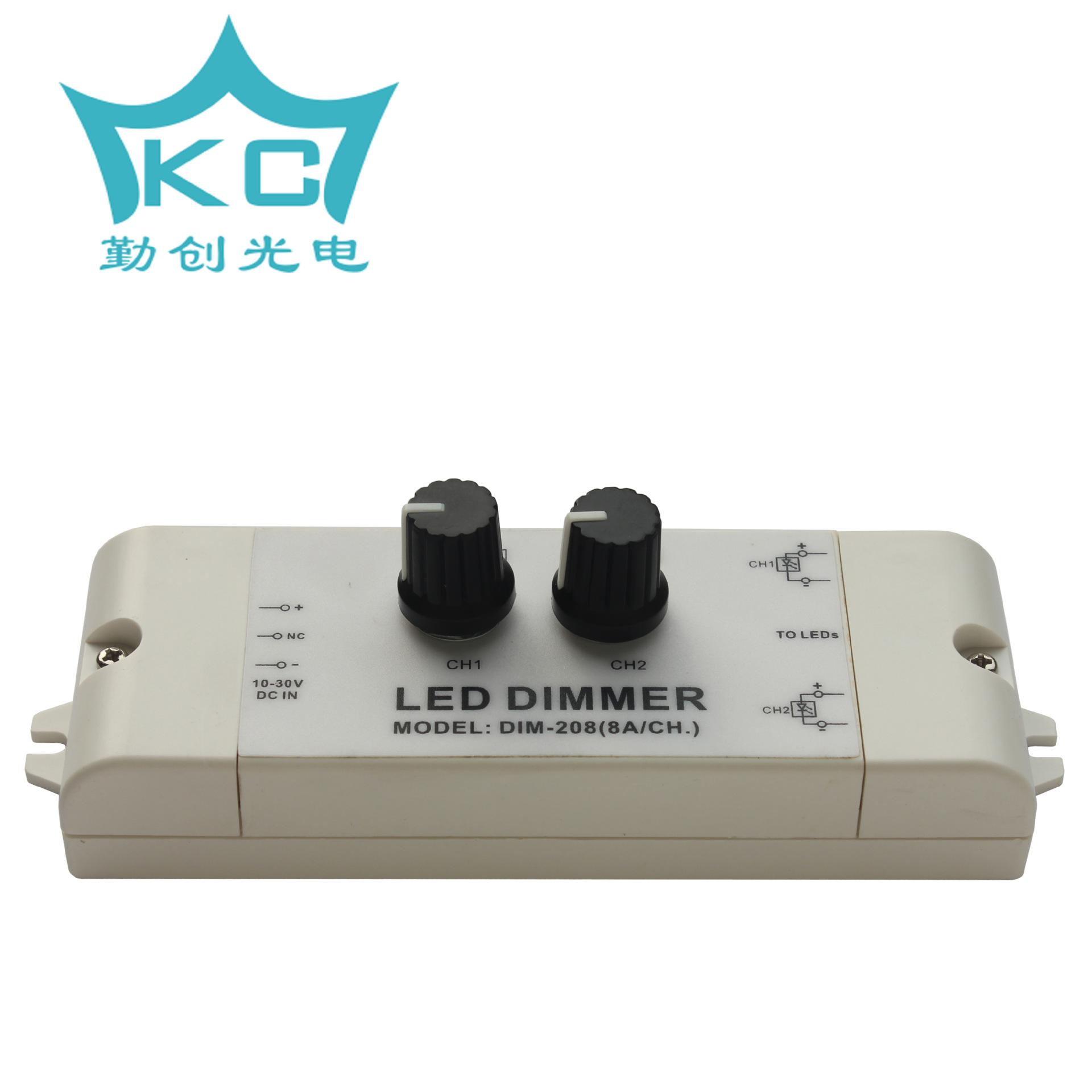QINCHUANG Thiết bị điều chỉnh màu Qinchuang thương hiệu 2 cách DIM-208 làm mờ nhiệt độ màu LED dimme