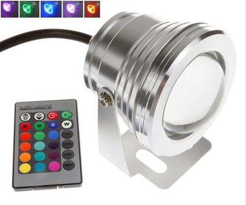 Đèn LED chiếu sáng 10w dưới nước Đầy màu sắc điều khiển từ xa .