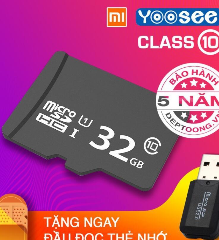 Thẻ Nhớ 32GB Tốc Độ Cao Class 10 Chuyên Dụng Cho Camera Yoosee Xiaomi.