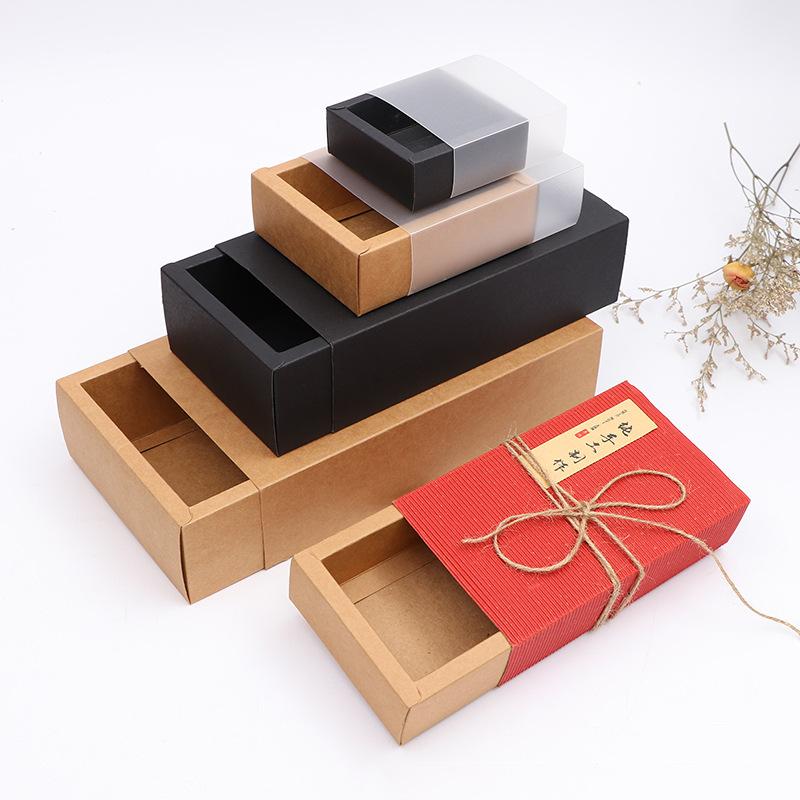 CHONGFEI Thị trường bao bì khác / bao bì vải / bao bì giấy Giấy kraft ngăn kéo hộp hình chữ nhật hộp