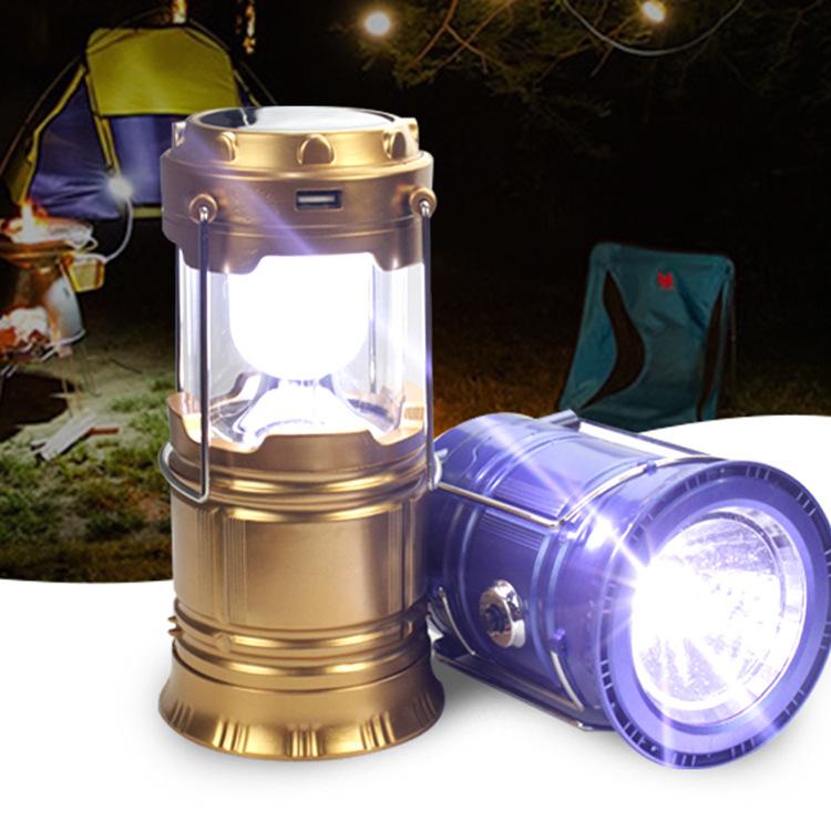 Đèn LED khẩn cấp LED năng lượng mặt trời cắm trại cắm trại ánh sáng cắm trại ngoài trời lều di động