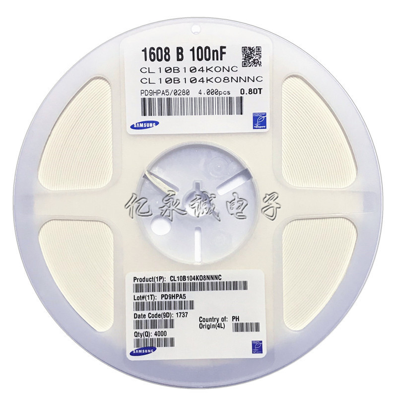 Tụ Ceramic Tụ điện Samsung SMD 0603 104K 100nF 100V X7R 10% Tụ gốm gốc