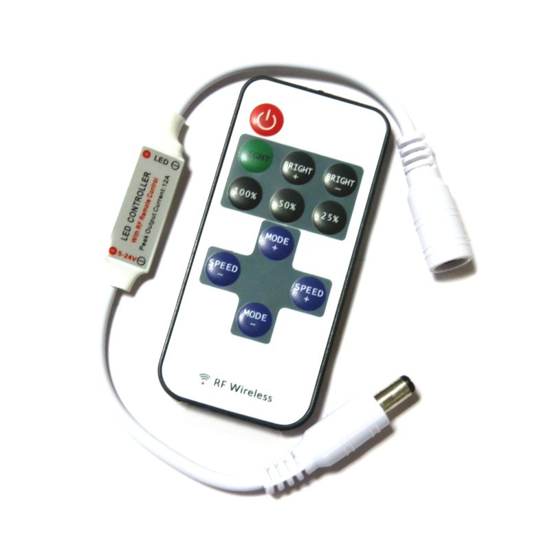 Bộ điều khiển từ xa 433RF RF Bộ điều khiển ánh sáng LED 12 bộ