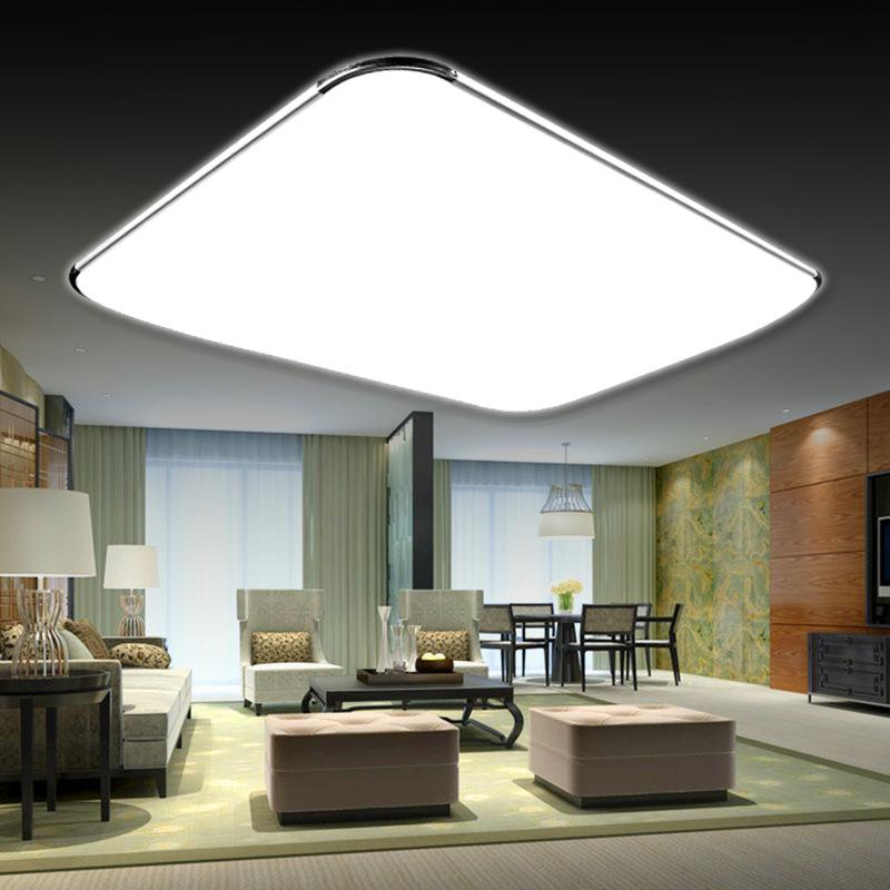 Thị trường chuyên phân phối LED Đèn trần LED hình chữ nhật hiện đại tối giản nhôm acrylic phòng khác