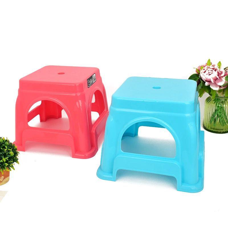 YIBAIJIA Đồ dùng gia dụng PP nhựa nhỏ phân vuông Mẫu giáo bé nhỏ băng ghế nhà hàng ngày cần thiết gh