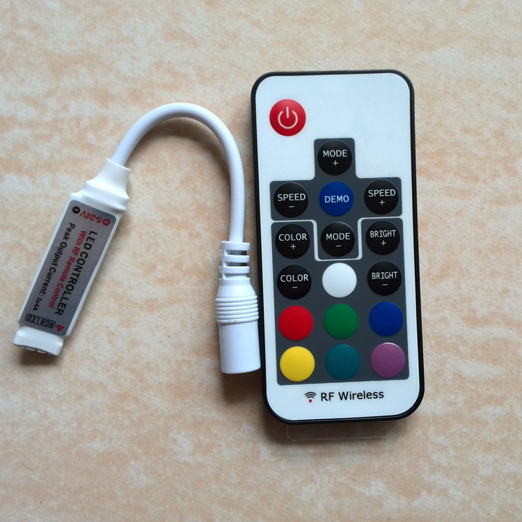 YIHONG Thiết bị điều khiển đèn RF mini led điều khiển ánh sáng 17 đèn