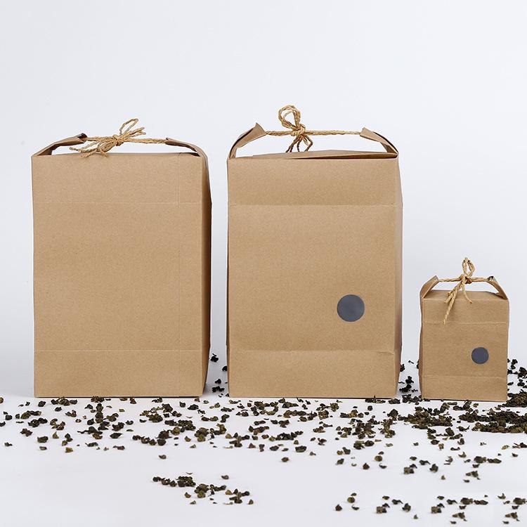 Hộp da Bán buôn túi giấy kraft, hạt trà, đồ khô, đặc sản, hộp quà tặng di động, túi gạo, tùy chỉnh