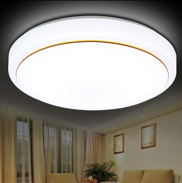 Thị trường chuyên phân phối LED Led đèn trần Đơn giản acrylic tròn chiếu sáng đèn trần Phòng khách p