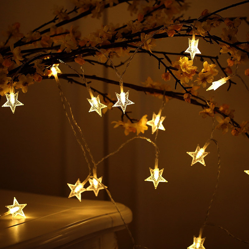 WEIXI Đèn trang trì Nhà máy trực tiếp dẫn ngôi sao mặt dây chuỗi ánh sáng ngày Giáng sinh trang trí