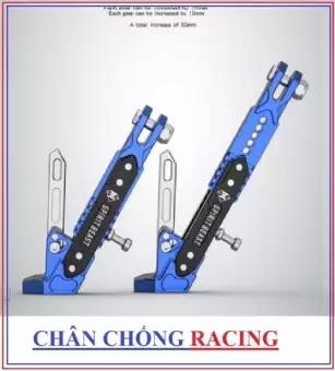 Tấm chắn gió Chân chống xe máy Racing CNC màu xanh