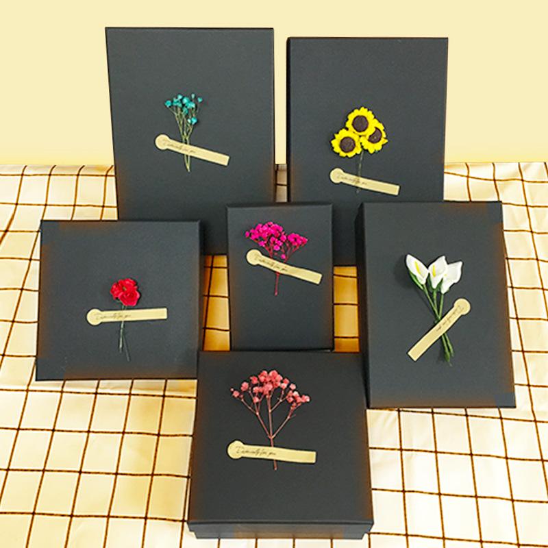 Hộp quà tặng Spot thế giới bao gồm hộp giấy kraft đen lớn hộp quà tặng son môi hình chữ nhật Hộp quà