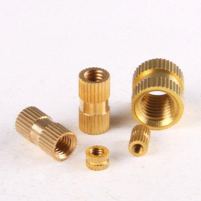 Tán Copper Nuts Chèn đồng Chèn chèn ép khuôn Nuts Copper Nuts Đồng nhúng có thể được tùy chỉnh