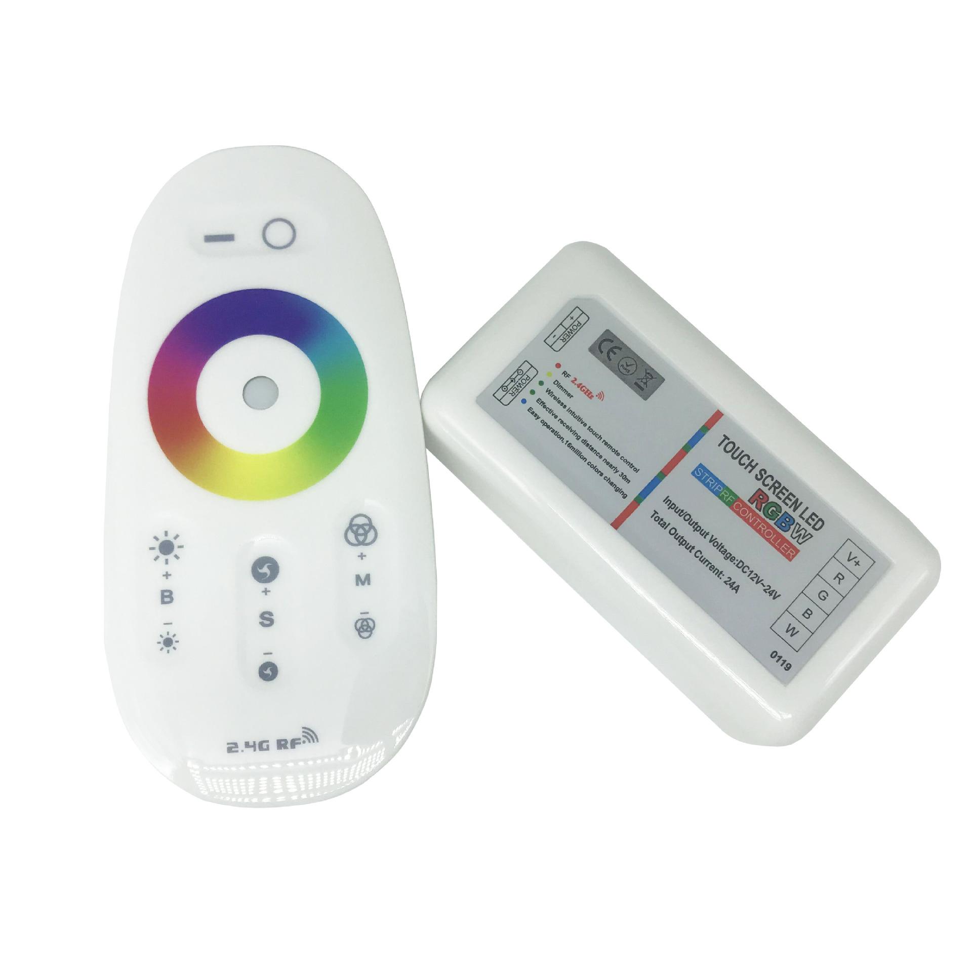 MLING Thiết bị điều chỉnh màu Bộ điều khiển cảm ứng 2,4g LED thanh ánh sáng đầy màu sắc Bộ điều khiể