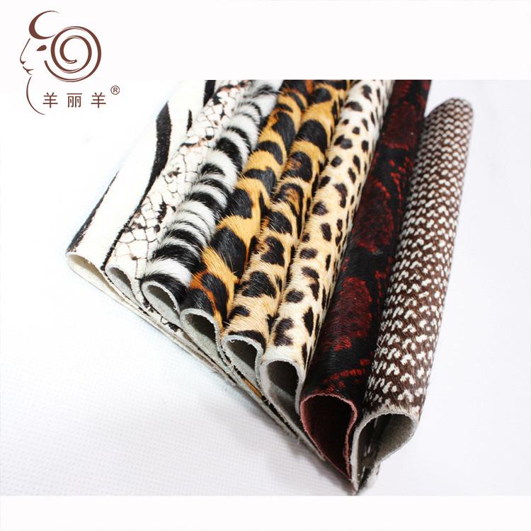 Yang Li Yang Da ngựa [Yang Li Yang] nhà máy da ngựa trực tiếp in vải lông ngựa khắc lông một da bán