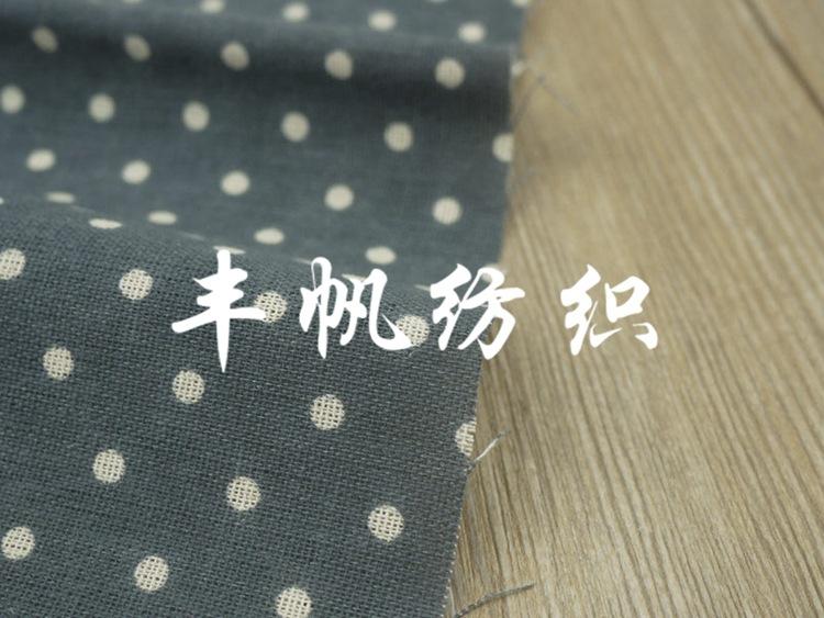 FENGFAN Vải Cotton pha Màu xám xanh bông và vải lanh pha vải thủ công vải tự làm tươi dày vải nhỏ nh