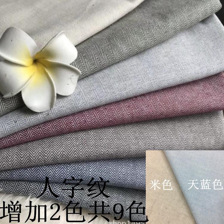 Vải Cotton pha Chất liệu cotton và vải lanh, cotton và bông pha trộn mô hình xương cá nhuộm sợi, bôn