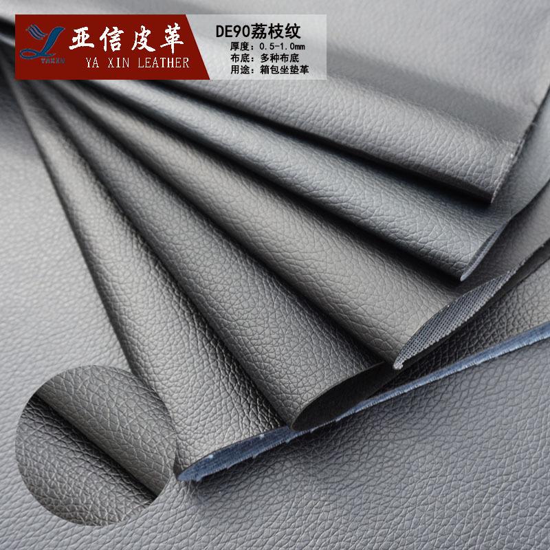 da PVC xe sofa da DE90 vải thiều hành lý văn phòng phẩm chất liệu túi xách da sofa bán buôn
