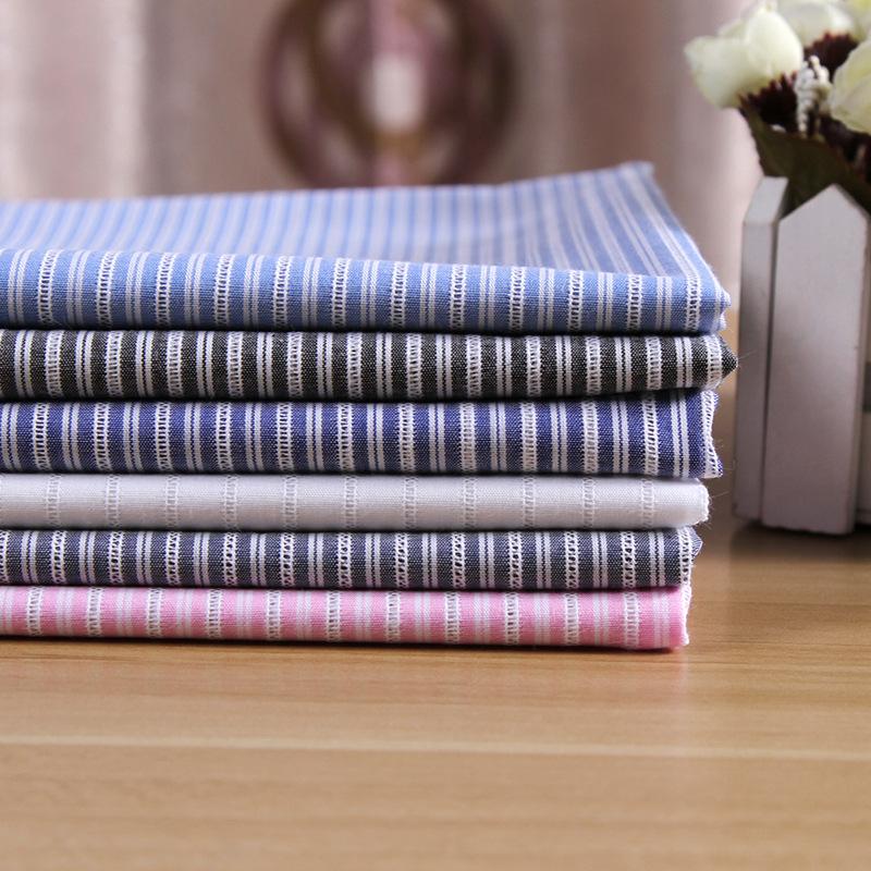 FENGRAN Vải Yarn dyed / Vải thun có hoa vănVải cotton sợi nhuộm nhuộm dải vải nóng áo vải mùa xuân v
