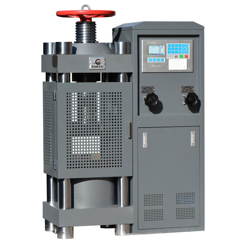 Máy thí nghiệm áp suất điện thủy lực SYE-2000A (đồng hồ nhôm)