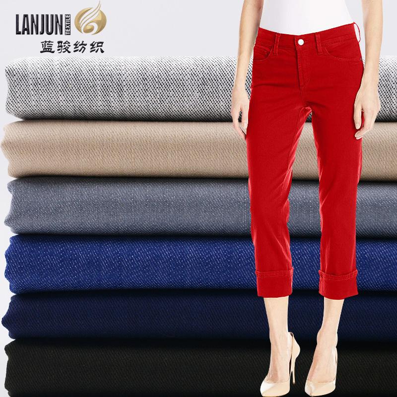 LANJUN Vải cotton pha polyester Polyester-cotton pha trộn tre giả vải denim căng vải mùa xuân và mùa