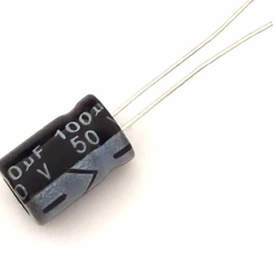 tụ điện nhôm 100uF 50V 8*12 chuyên dụng