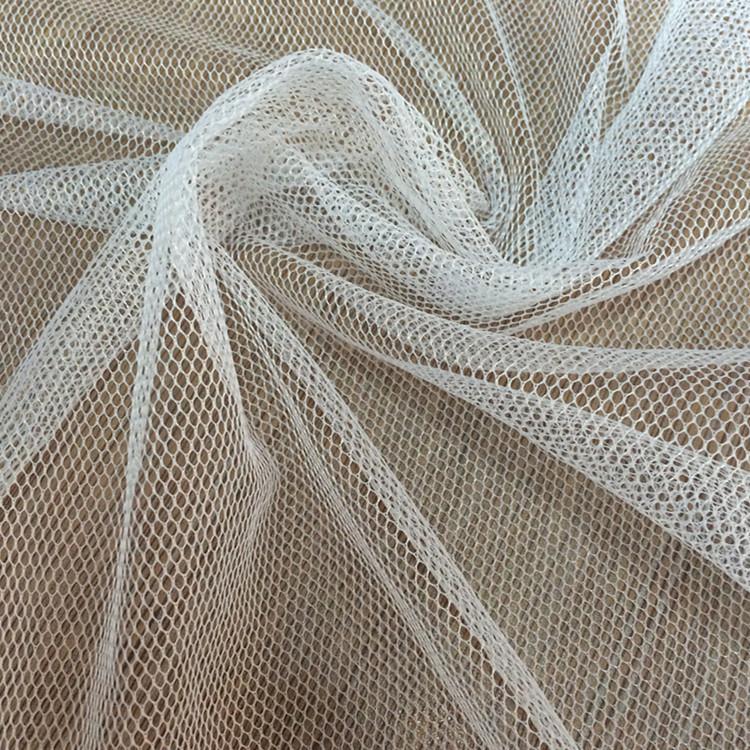 QINQIN Vải lưới Nhà máy trực tiếp polyester 30A, 36A lưới lục giác vải lưới lưới sợi tutu vải in vải