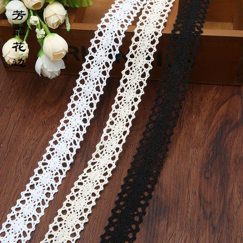 FANGFEI ren viền Nhà máy trực tiếp 2cm bông màu be phụ kiện ren thủ công quần áo nhà dệt may phụ kiệ