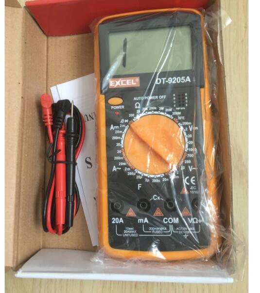 Đồng hồ đo vạn năng điện - điện tử Excel DT9205A ( kèm Pin) Sửa chữa điện tử