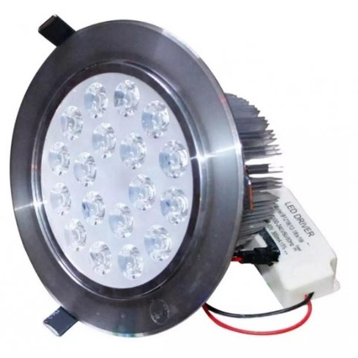 Bóng đèn Led âm trần chiếu rọi 18W (Trắng ấm)