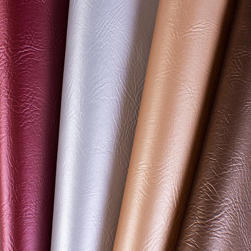 Vật liệu da Bán buôn tại chỗ Rough pu da trang trí túi mềm chất liệu chống cháy túi cứng da nhân tạo