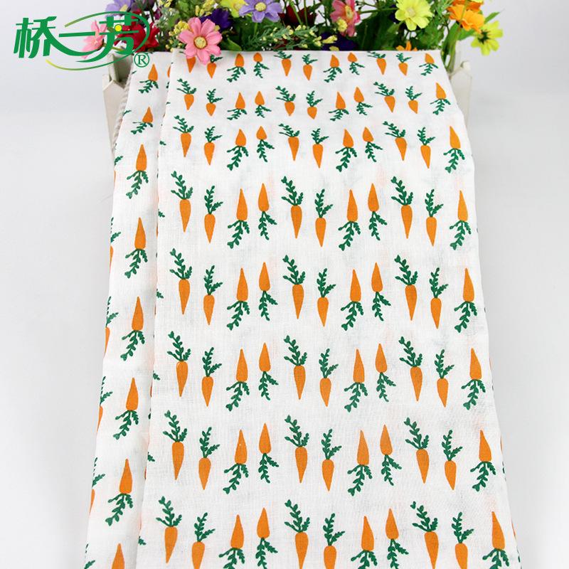 QIAOYIFANG Vải Chiffon & Printing Vải dệt cầu in Yifang quần áo trẻ em nước bọt khăn bông in vải cot