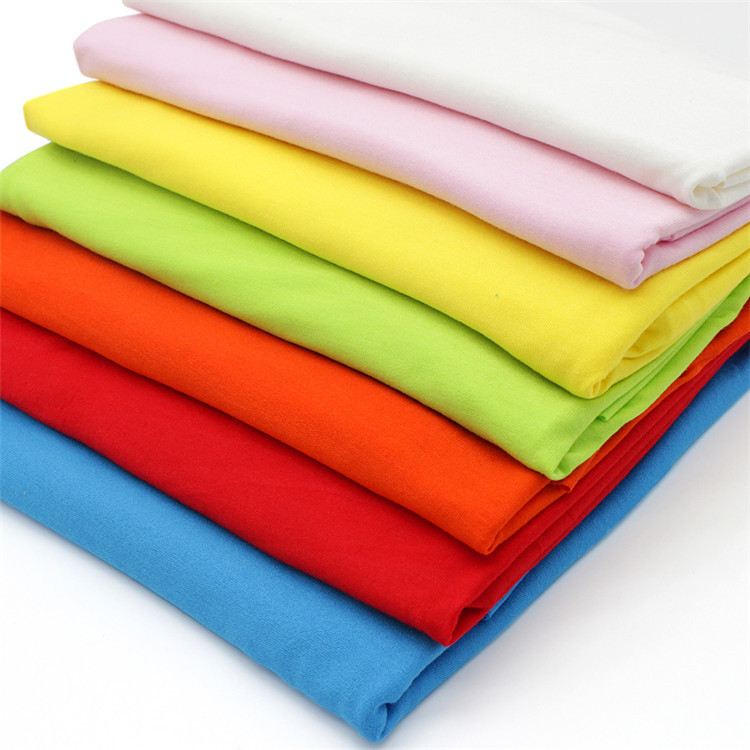 AOYI Vải dệt kim Cổ phiếu đề nghị 40s vải modal vải dệt kim màu rắn không vải tại chỗ vải dệt kim