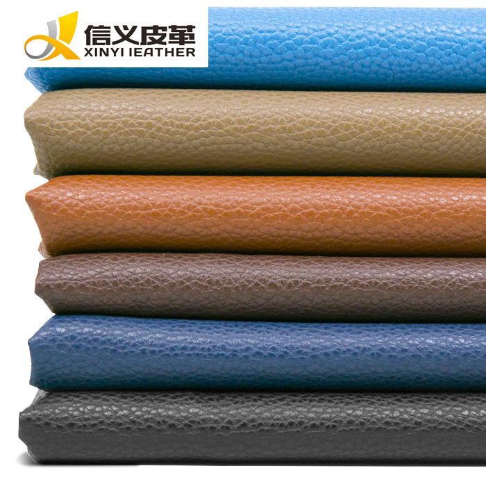 da Nhà máy sản xuất vải PU da trực tiếp 0,7 vải thiều nhân tạo sofa da mềm túi cứng túi da