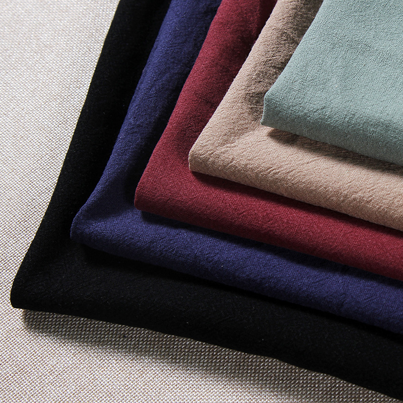 LIANGLIANG Vải Cotton pha 122 # Chất liệu vải lanh dính Zoubu Chất liệu cotton pha trộn và vải lanh
