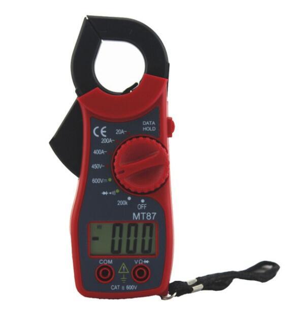 Đồng hồ đo điện Đồng Hồ Kìm Đo Dòng Điện Ampe Kế MT87 (Màu Đỏ)