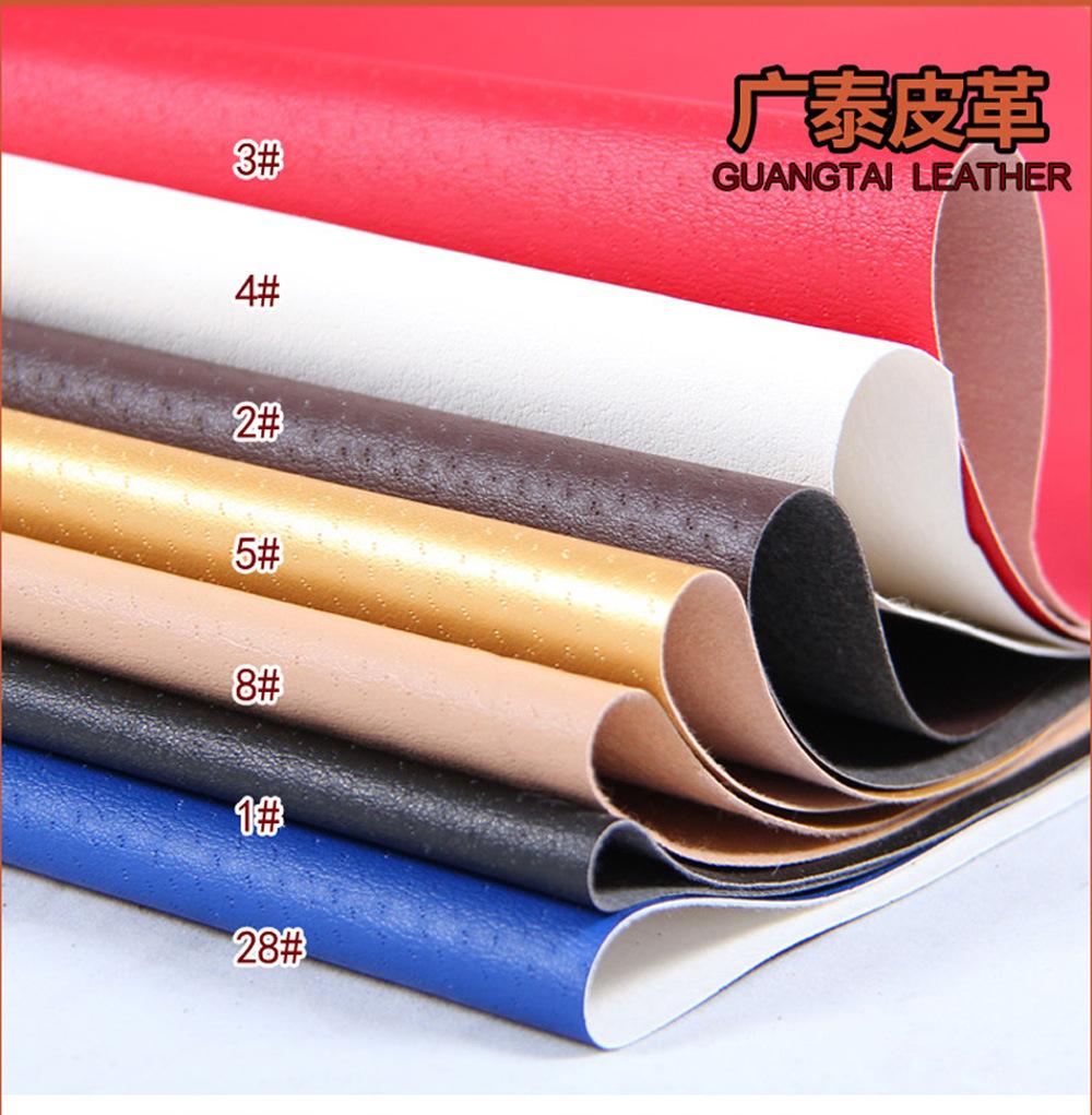 GUANGTAI Vật liệu da Quảng Châu cung cấp da nhân tạo đầy đủ PU giả da heo giả da vải hành lý da giày
